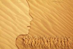 jaskrawy tana pomysłu piasek Zdjęcie Royalty Free