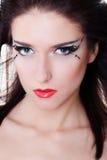 jaskrawy twarzy makeup kobieta fotografia royalty free
