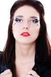 jaskrawy twarzy makeup kobieta fotografia stock