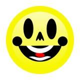 Jaskrawy uśmiech Emoji z białym tłem ilustracji