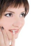 jaskrawy urocza nadmierna obrazka biała kobieta Zdjęcie Stock