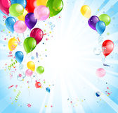 Jaskrawy wakacje z balonami Obrazy Royalty Free