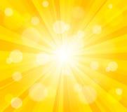 Jaskrawy wektorowy słońca skutka tło ilustracja wektor