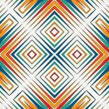 Jaskrawy witraż mozaiki abstrakta tło Stylizowany kalejdoskopu ornament bezszwowy wzoru geometrycznego ilustracji