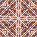 Jaskrawy witraż mozaiki tło Bezszwowy wzór z kalejdoskopu geometrycznym ornamentem w kratkę tapeta Zdjęcia Stock