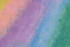 Jaskrawy wizerunek dzieciaki maluje pastelową kolorową akwarelę Fotografia Royalty Free