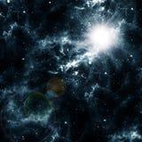 Jaskrawy wybuch w nocnym niebie Obrazy Royalty Free