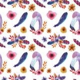 Jaskrawy wzór z flamingiem ilustracji