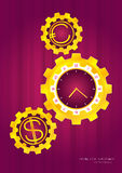 Jaskrawy złocisty zegarek Zdjęcie Royalty Free