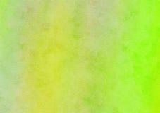 Jaskrawy - zielenieje Mieszającą akwareli tła papieru teksturę Zdjęcie Royalty Free