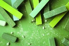 Jaskrawy - zielona kreda obraz royalty free