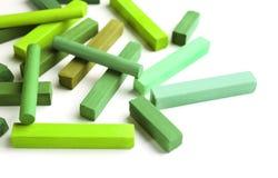 Jaskrawy - zielona kreda obrazy royalty free