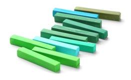 Jaskrawy - zielona kreda zdjęcia stock
