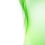 Jaskrawy - zielonej abstrakcjonistycznej swoosh fala rabatowa linia Zdjęcia Royalty Free