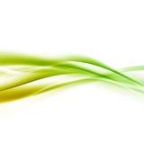 Jaskrawy - zielonej prędkości swoosh linii abstrakcjonistyczny nowożytny układ Zdjęcia Royalty Free
