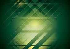 Jaskrawy - zielony zaawansowany technicznie tło. Wektorowy projekt Zdjęcia Royalty Free