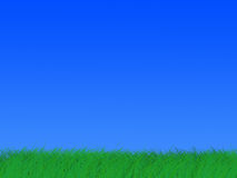 jaskrawy - zielony zielarski horyzont Fotografia Stock