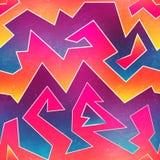 Jaskrawych graffiti bezszwowy wzór Zdjęcia Royalty Free