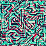 Jaskrawych linii bezszwowy wzór Zdjęcie Royalty Free