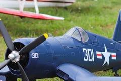 Jaslo,波兰- 2018年7月1日:式样第二次世界大战的涡轮螺旋桨发动机军事喷气式歼击机 飞机老模型的Airshow  库存照片