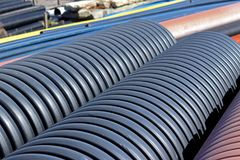 Jaslo/Yaslo, Poland - april 12, 2018: Sweet rubber tires for various cars, trucks and tractors. Technology of automotive industry. stock photo