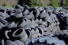 Jaslo/Yaslo Polen - april 12, 2018: Söta rubber gummihjul för olika bilar, lastbilar och traktorer Teknologi av bilindustri Arkivbilder