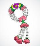 Jasmijn met rozenslinger Stock Foto
