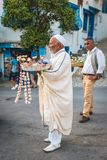 Jasmijnverkopers in Tunesië royalty-vrije stock foto