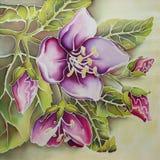Jasmim cor-de-rosa (batik) Imagens de Stock Royalty Free