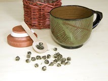 Jasmin-grüner Tee Lizenzfreies Stockfoto