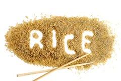 Jasminbrown-Reis Stockfotos