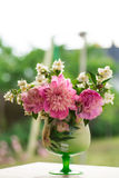 Jasmine bouquet with peonies Stock Image