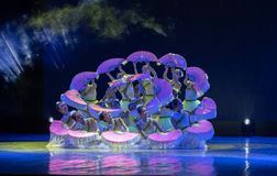 Jasmine Flowersï ¼ ˆCatch το Dragonï ¼ ‰ - κινεζικό εθνικό μπαλέτο Στοκ Εικόνες