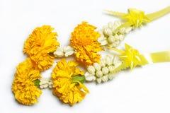 Jasmine garland. The Jasmine garland that use for give to buddha Stock Photography
