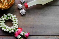 Jasmine garland stock image