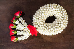 Jasmine garland , Handmade , Sign of Mother day in Thailand Royalty Free Stock Image