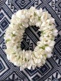 Jasmine garland. Phuang malai & x28;พวงมาลัย& x29; or Malai & x28;มาลัย& x29; are a Thai form of floral garland Stock Images