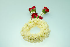 Jasmine garland and roses. For Mother day Stock Images