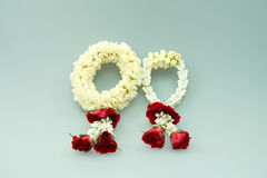 Jasmine garland and roses. For Mother day Stock Photography