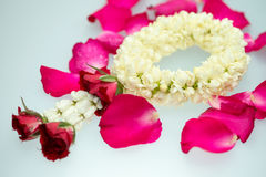 Jasmine garland and roses. For Mother day Stock Photo