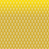Jasmine garland seamless pattern on gold background Royalty Free Stock Photos