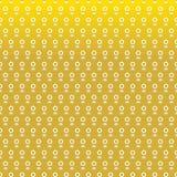 Jasmine garland seamless pattern on gold background Royalty Free Stock Photos