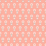 Jasmine garland seamless pattern vector illustration Stock Image