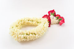Jasmine garland. Is thai flowers Stock Photos