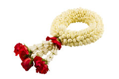 Jasmine garland on white background Stock Images