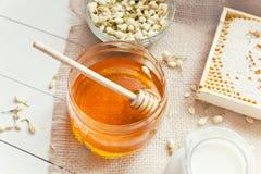 Jasmine honey and milk Stock Images
