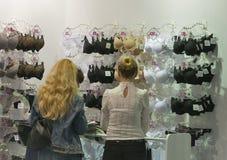 Jasmine lingerie booth at Kyiv Fashion 2014 Royalty Free Stock Photo