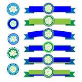 Jasmine ribbon vector Royalty Free Stock Images