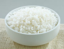 Jasmine rice in a rice bowl isolated  Stock Images