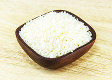 Jasmine rice on bowl Stock Photo